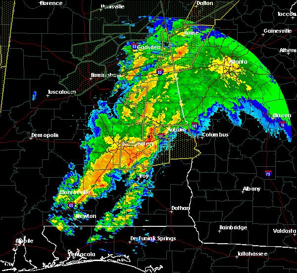 Radar Image for Severe Thunderstorms near Mount Olive, AL at 4/12/2020 11:41 PM CDT