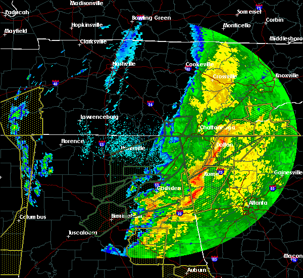 Radar Image for Severe Thunderstorms near Edwardsville, AL at 4/12/2020 11:40 PM CDT