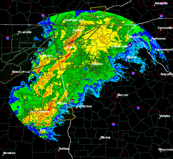 Radar Image for Severe Thunderstorms near Calhoun, GA at 4/13/2020 12:49 AM EDT