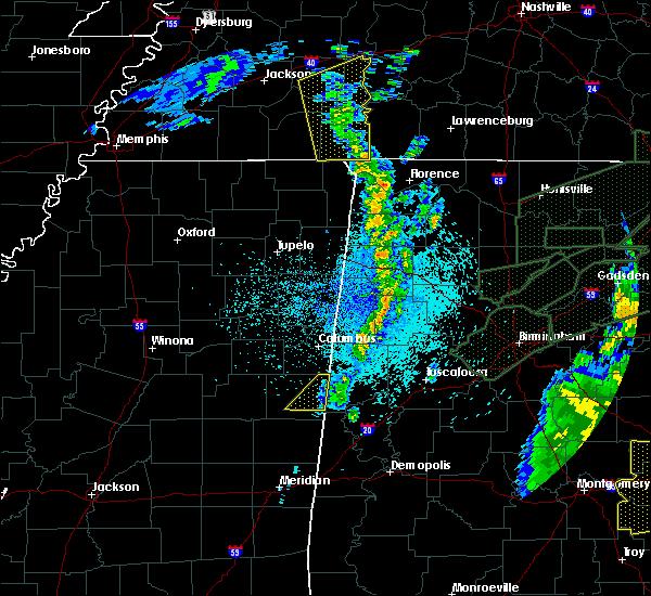 Radar Image for Severe Thunderstorms near Pickensville, AL at 4/12/2020 11:55 PM CDT