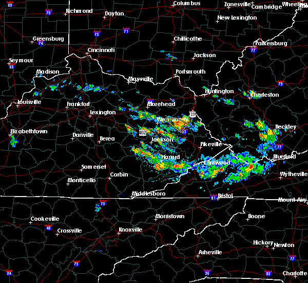 Radar Image for Severe Thunderstorms near Paintsville, KY at 6/25/2015 9:06 PM EDT
