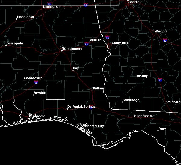 Radar Image for Severe Thunderstorms near Georgiana, AL at 4/13/2020 12:01 AM CDT
