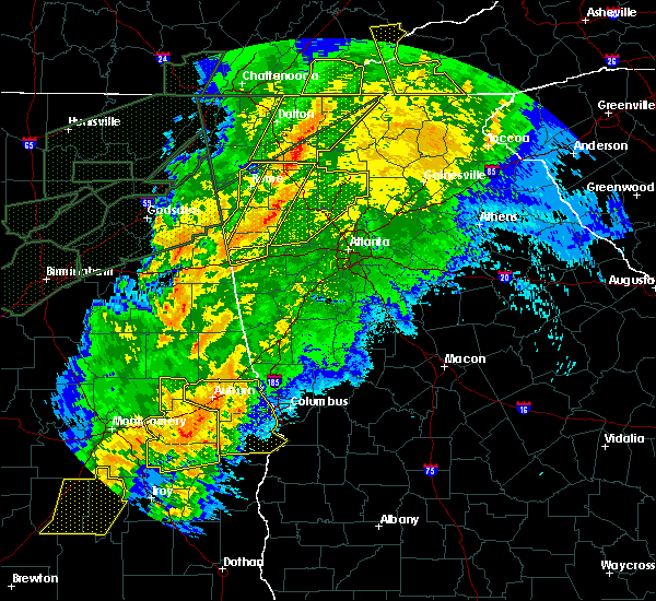 Radar Image for Severe Thunderstorms near Emerson, GA at 4/13/2020 1:05 AM EDT