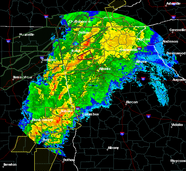 Radar Image for Severe Thunderstorms near Calhoun, GA at 4/13/2020 1:08 AM EDT