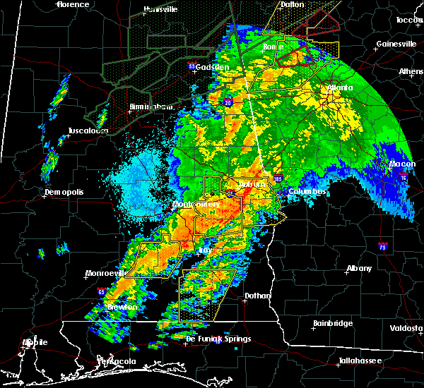 Radar Image for Severe Thunderstorms near Ladonia, AL at 4/13/2020 12:17 AM CDT