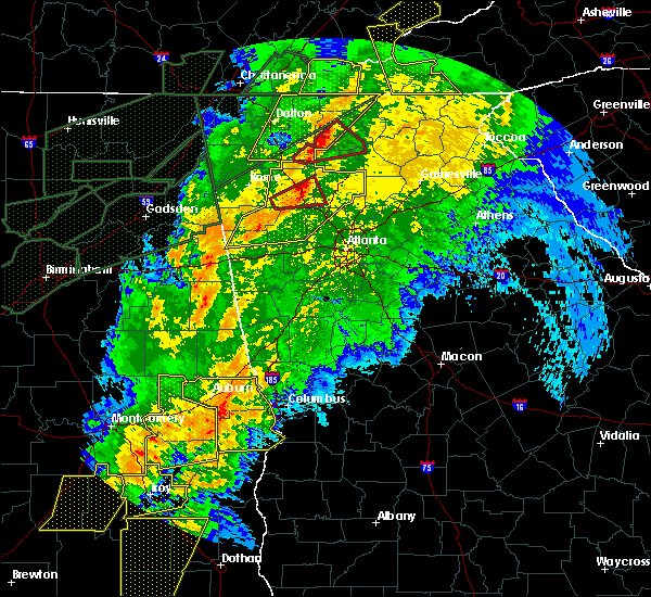 Radar Image for Severe Thunderstorms near Emerson, GA at 4/13/2020 1:17 AM EDT