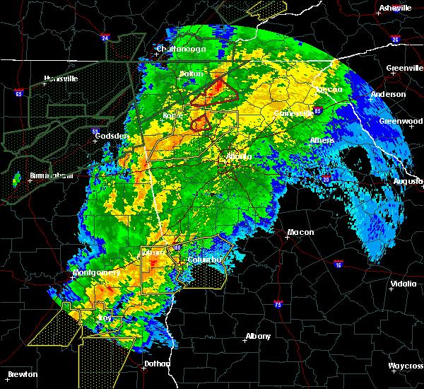 Radar Image for Severe Thunderstorms near Columbus, GA at 4/13/2020 1:21 AM EDT