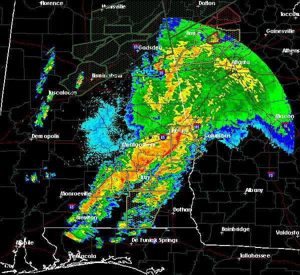 Radar Image for Severe Thunderstorms near La Fayette, AL at 4/13/2020 12:21 AM CDT