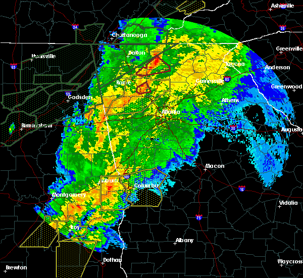 Radar Image for Severe Thunderstorms near Ellijay, GA at 4/13/2020 1:23 AM EDT