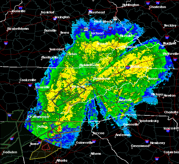 Radar Image for Severe Thunderstorms near Marble, NC at 4/13/2020 1:31 AM EDT