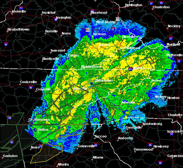 Radar Image for Severe Thunderstorms near Marble, NC at 4/13/2020 1:44 AM EDT