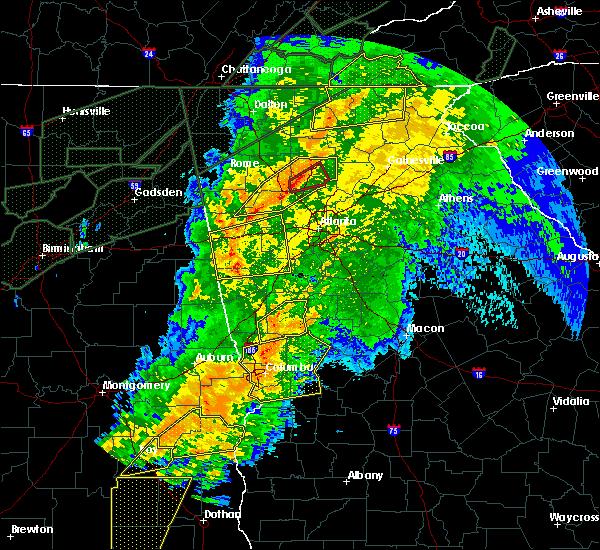 Radar Image for Severe Thunderstorms near Columbus, GA at 4/13/2020 1:53 AM EDT