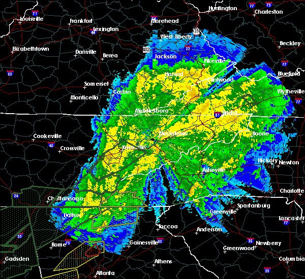 Radar Image for Severe Thunderstorms near Marble, NC at 4/13/2020 1:58 AM EDT