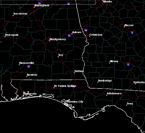 Radar Image for Severe Thunderstorms near Enterprise, AL at 4/13/2020 1:24 AM CDT