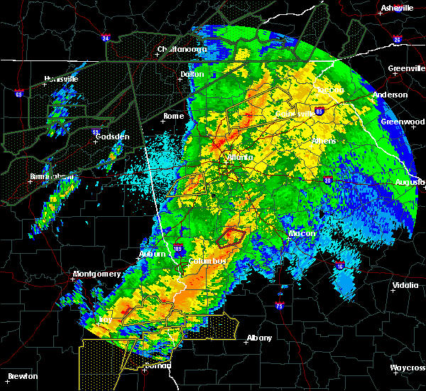 Radar Image for Severe Thunderstorms near Chattahoochee Hills, GA at 4/13/2020 2:25 AM EDT