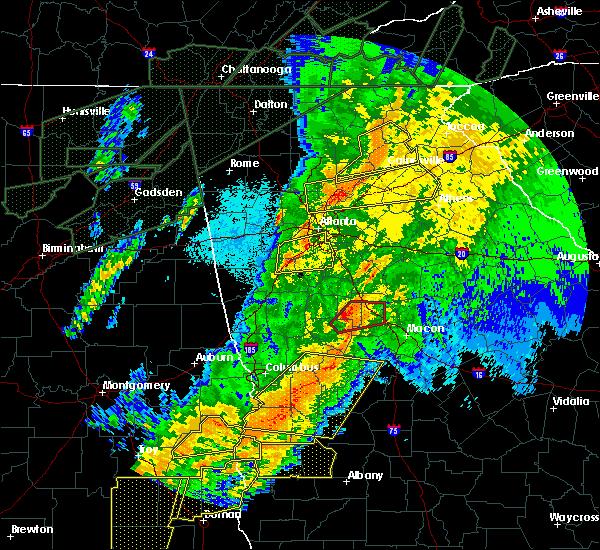 Radar Image for Severe Thunderstorms near Atlanta, GA at 4/13/2020 2:36 AM EDT