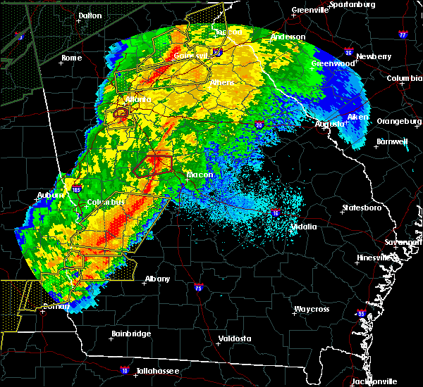 Radar Image for Severe Thunderstorms near Macon, GA at 4/13/2020 2:43 AM EDT