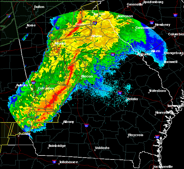 Radar Image for Severe Thunderstorms near Jeffersonville, GA at 4/13/2020 2:57 AM EDT