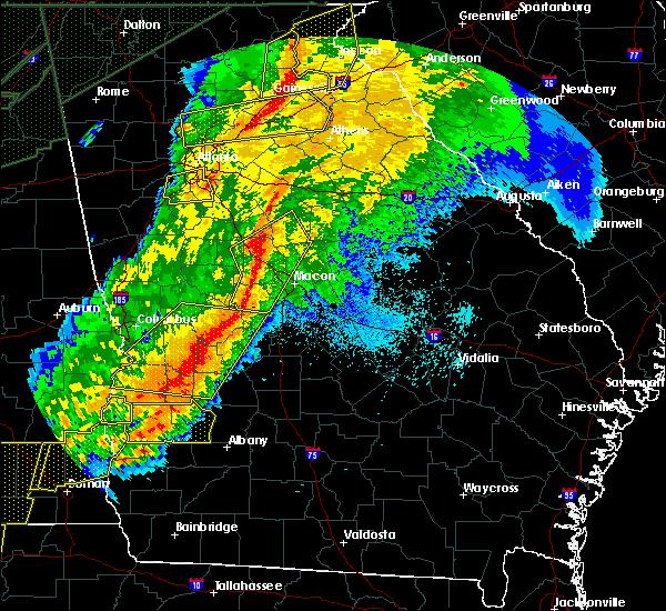 Radar Image for Severe Thunderstorms near Buckhead, GA at 4/13/2020 3:01 AM EDT