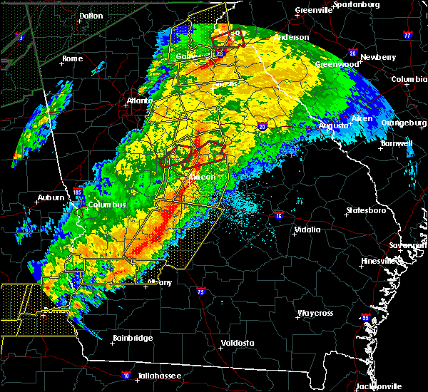 Radar Image for Severe Thunderstorms near Jeffersonville, GA at 4/13/2020 3:16 AM EDT