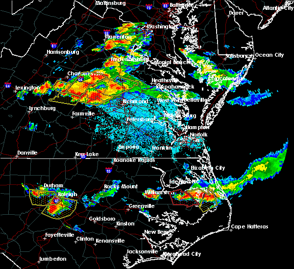 Radar Image for Severe Thunderstorms near Goochland, VA at 6/25/2015 9:10 PM EDT