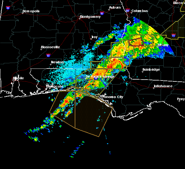 Radar Image for Severe Thunderstorms near Jacob City, FL at 4/13/2020 2:57 AM CDT