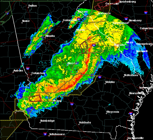 Radar Image for Severe Thunderstorms near Jeffersonville, GA at 4/13/2020 4:02 AM EDT