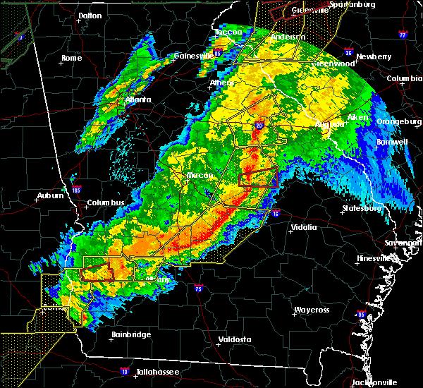 Radar Image for Severe Thunderstorms near Oconee, GA at 4/13/2020 4:08 AM EDT