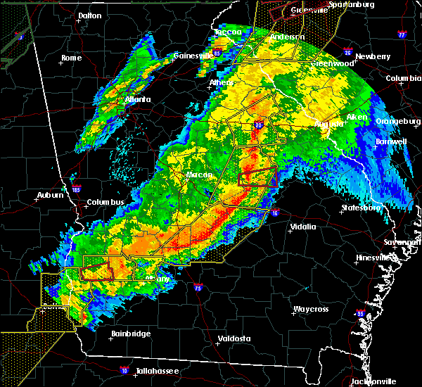 Radar Image for Severe Thunderstorms near Swainsboro, GA at 4/13/2020 4:13 AM EDT
