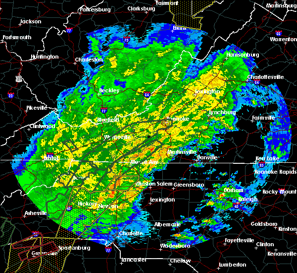 Radar Image for Severe Thunderstorms near Spencer Mountain, NC at 4/13/2020 4:16 AM EDT