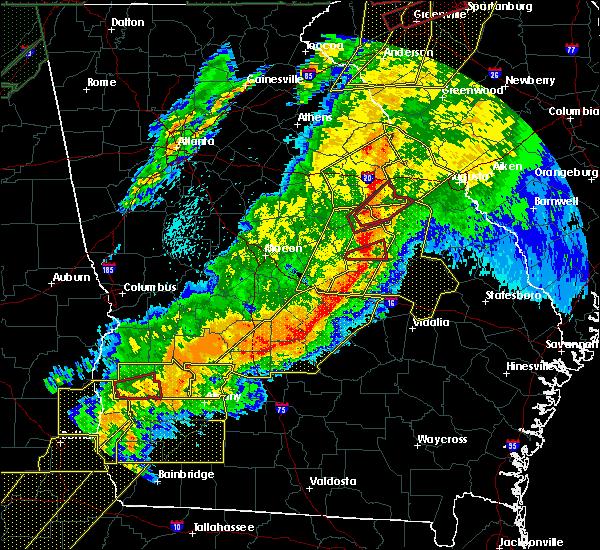 Radar Image for Severe Thunderstorms near Washington, GA at 4/13/2020 4:20 AM EDT