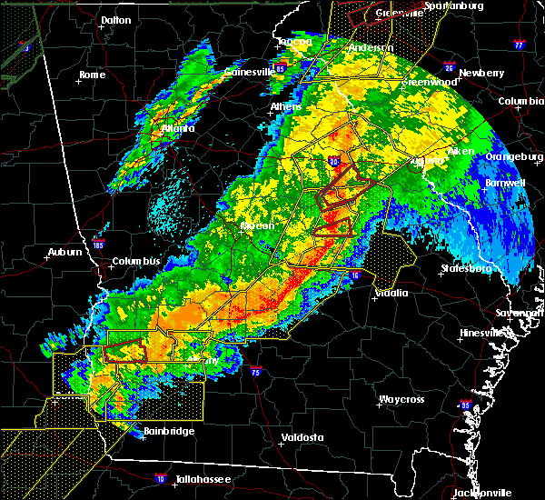 Radar Image for Severe Thunderstorms near Sylvester, GA at 4/13/2020 4:24 AM EDT