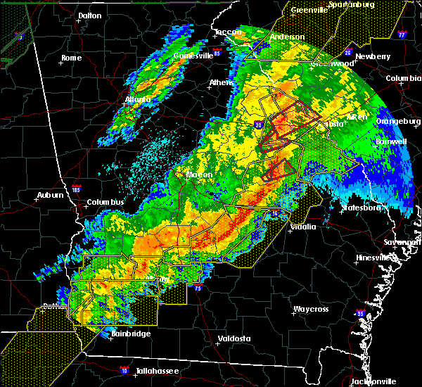 Radar Image for Severe Thunderstorms near Swainsboro, GA at 4/13/2020 4:35 AM EDT