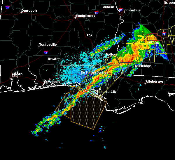 Radar Image for Severe Thunderstorms near Jacob City, FL at 4/13/2020 3:48 AM CDT
