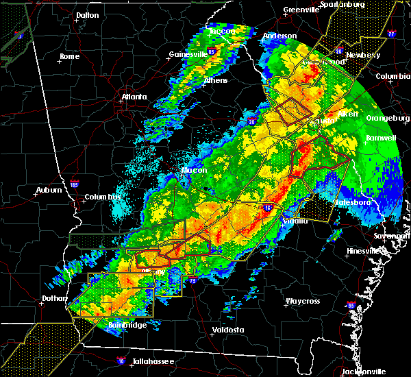 Radar Image for Severe Thunderstorms near Swainsboro, GA at 4/13/2020 4:57 AM EDT