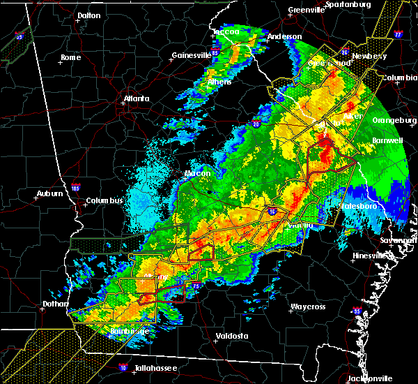 Radar Image for Severe Thunderstorms near Swainsboro, GA at 4/13/2020 5:17 AM EDT