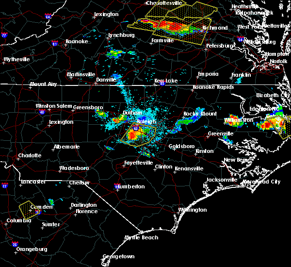 Radar Image for Severe Thunderstorms near Archer Lodge, NC at 6/25/2015 9:19 PM EDT