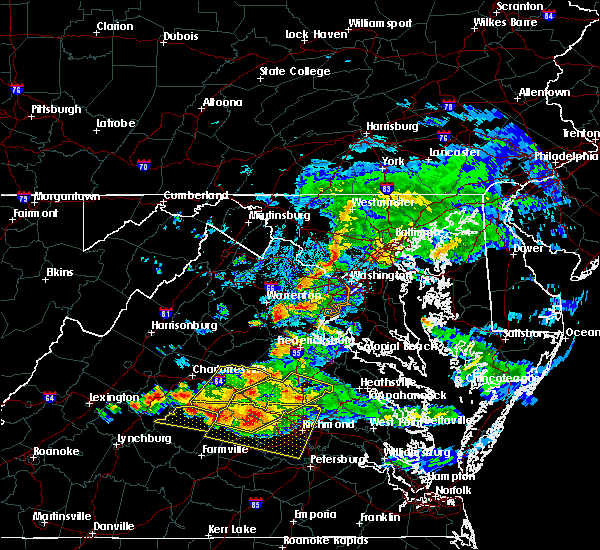 Radar Image for Severe Thunderstorms near Calverton, VA at 6/25/2015 9:21 PM EDT