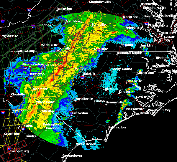 Radar Image for Severe Thunderstorms near Ansonville, NC at 4/13/2020 6:33 AM EDT