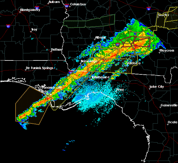 Radar Image for Severe Thunderstorms near Woodville, FL at 4/13/2020 6:38 AM EDT