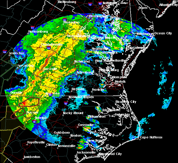 Radar Image for Severe Thunderstorms near Cumberland, VA at 4/13/2020 6:49 AM EDT