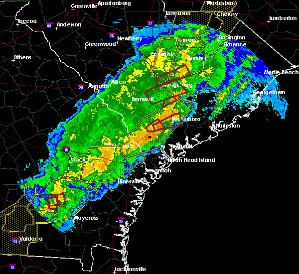 Radar Image for Severe Thunderstorms near Ravenel, SC at 4/13/2020 6:56 AM EDT
