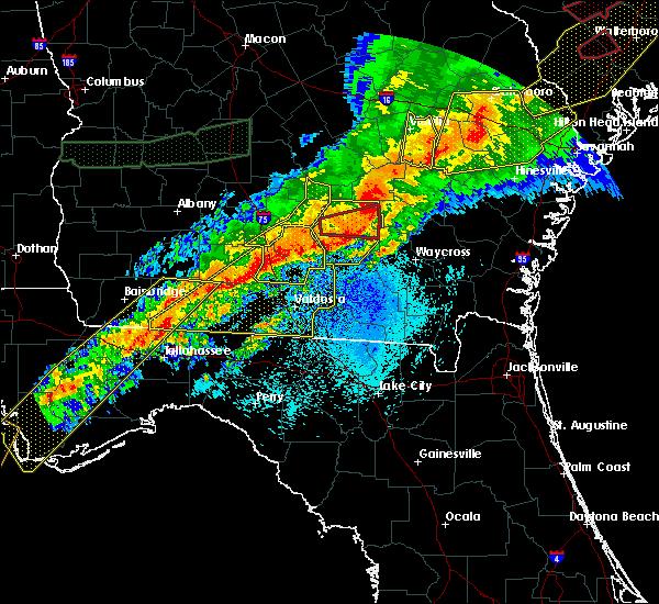 Radar Image for Severe Thunderstorms near Alma, GA at 4/13/2020 6:58 AM EDT