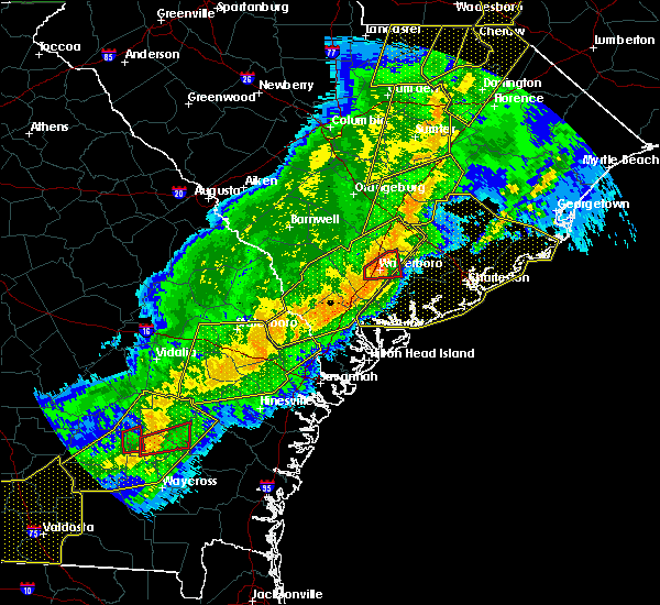 Radar Image for Severe Thunderstorms near North Charleston, SC at 4/13/2020 7:04 AM EDT