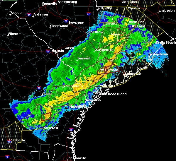 Radar Image for Severe Thunderstorms near Ridgeland, SC at 4/13/2020 7:11 AM EDT