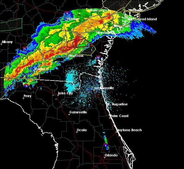 Radar Image for Severe Thunderstorms near Odum, GA at 4/13/2020 7:17 AM EDT