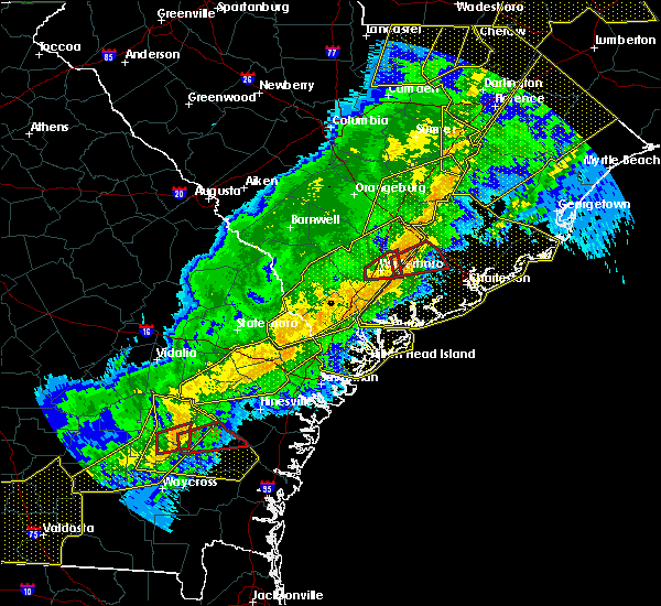 Radar Image for Severe Thunderstorms near Midway, GA at 4/13/2020 7:18 AM EDT