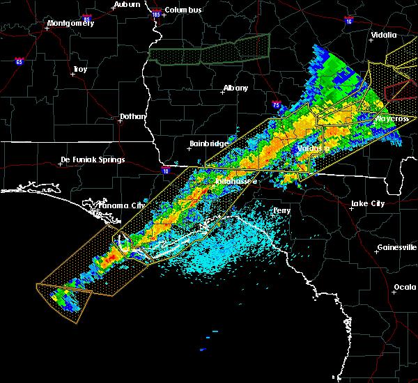 Radar Image for Severe Thunderstorms near Woodville, FL at 4/13/2020 7:29 AM EDT