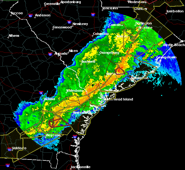 Radar Image for Severe Thunderstorms near Sangaree, SC at 4/13/2020 7:29 AM EDT