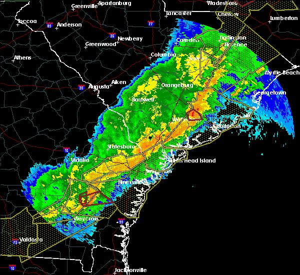Radar Image for Severe Thunderstorms near Moncks Corner, SC at 4/13/2020 7:29 AM EDT
